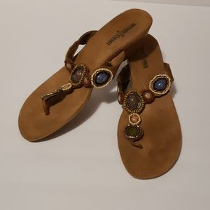 MINNETONKA Uptown Wedge Sandals size 9